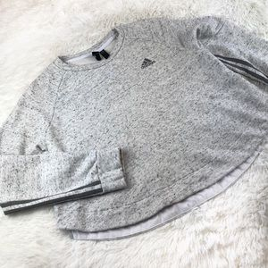 ADIDAS Heather Gray Crop Sweatshirt